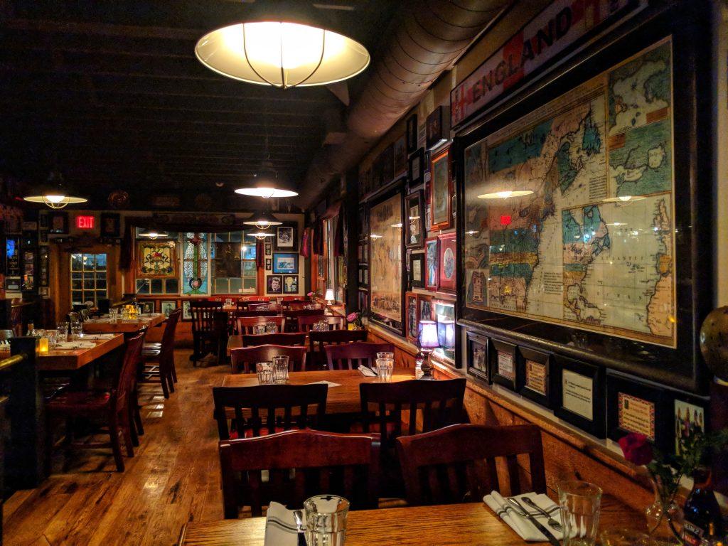 A bar/restaurant interior