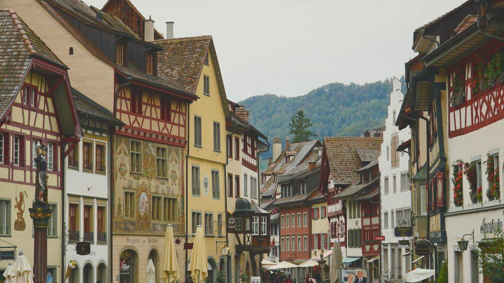 A photo of a German village.